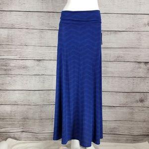 LuLaRoe Maxi Long skirt Flared Blue S NWT